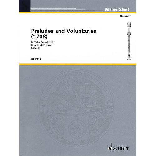 Schott Preludes and Voluntaries (for Treble Recorder) Schott Series-thumbnail