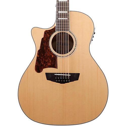 d 39 angelico premier fulton left handed 12 string acoustic electric guitar natural musician 39 s friend. Black Bedroom Furniture Sets. Home Design Ideas