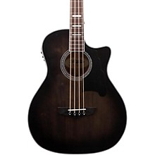 D'Angelico Premier Mott Acoustic-Electric Bass Guitar Grey Black
