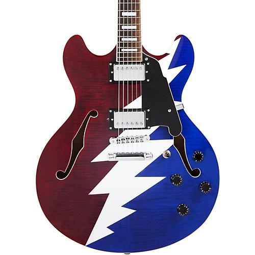 D'Angelico Premier Series DC Grateful Dead Semi-Hollow Electric Guitar-thumbnail