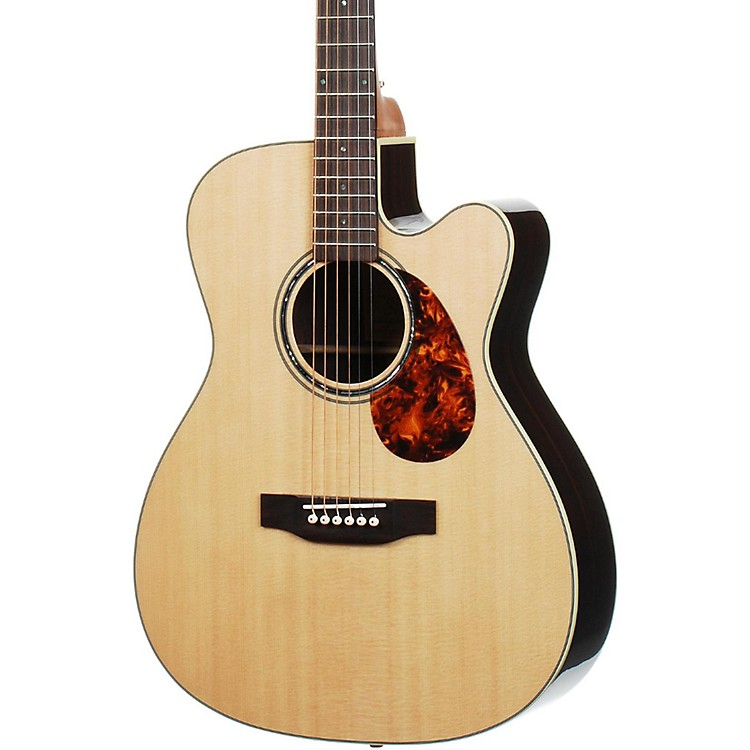 Voyage-Air Guitar Premier Series VAOM-2C Full-Size Folding Orchestra Model Acoustic Guitar Natural