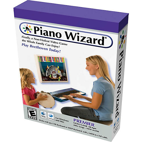 Piano Wizard Premiere Piano Wizard Video Game with USB/MIDI Cable
