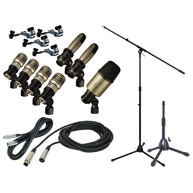 CAD Premium 7-Piece Drum Mic Kit with Stand and Cables