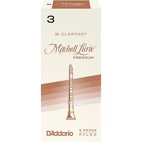 Mitchell Lurie Premium Bb Clarinet Reeds Strength 3 Box of 5