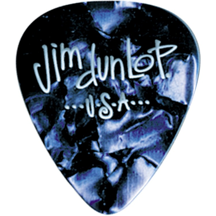 DunlopPremium Celluloid Classic Guitar Picks 1 DozenBlue PearloidHeavy