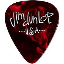 Dunlop Premium Celluloid Classic Guitar Picks 1 Dozen Red Pearloid Medium