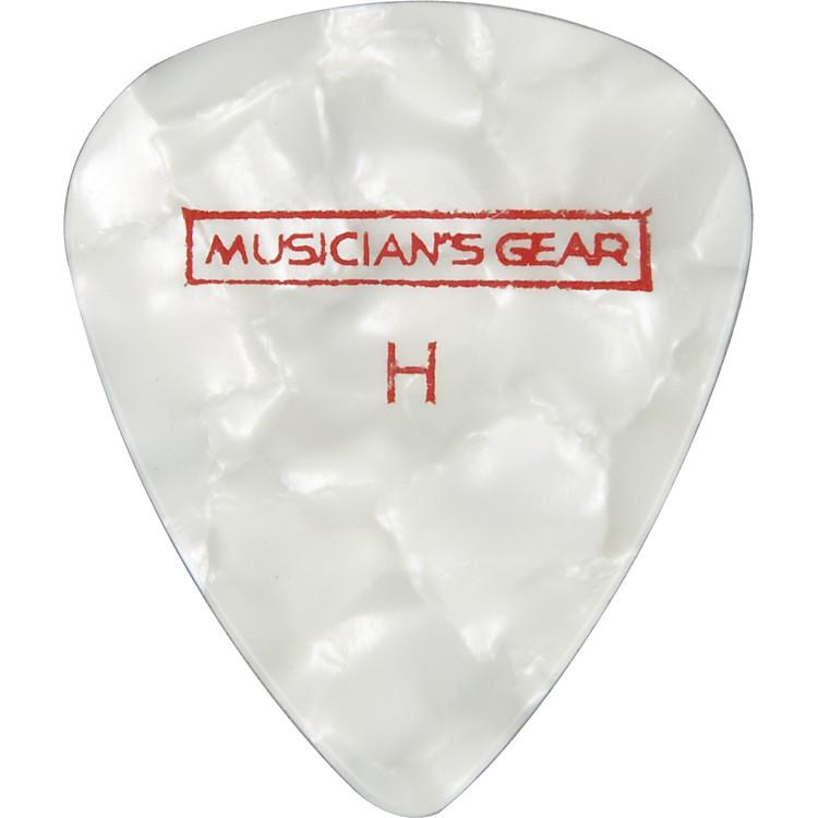 Musician's GearPremium Pearloid Celluloid Pick - 12 PackWhiteHeavy