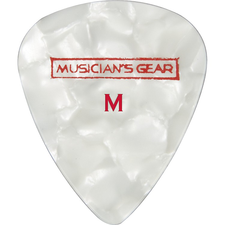 Musician's GearPremium Pearloid Celluloid Pick - 12 PackWhiteMedium