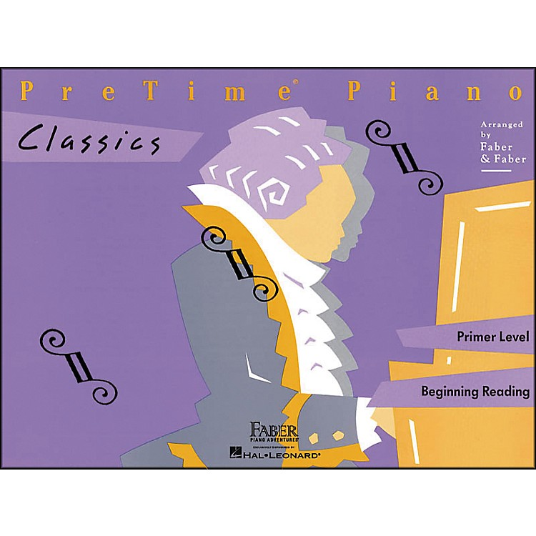 Faber Music Pretime Piano Classics Book Primer Level for Beginning Reading - Faber Piano