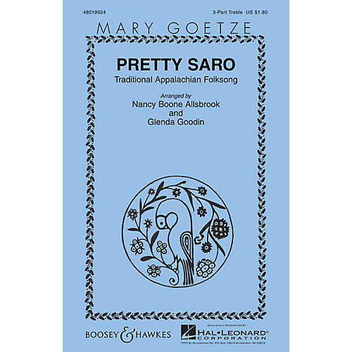 Boosey and Hawkes Pretty Saro (Mary Goetze Series) 3 Part Treble arranged by Nancy Boone Allsbrook-thumbnail