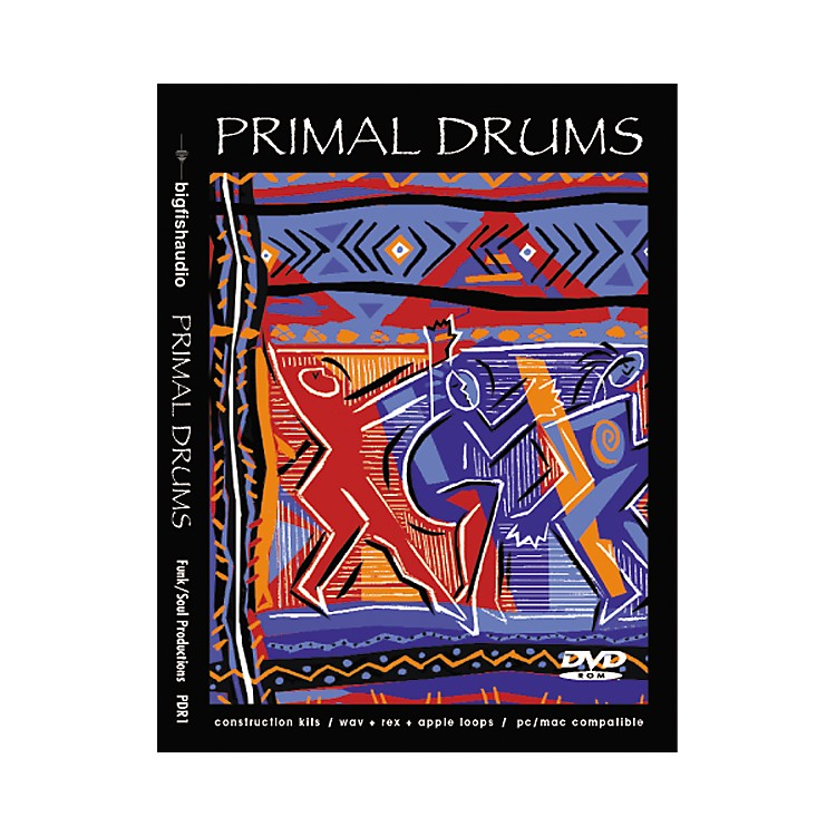 Big Fish Primal Drums Sample Library DVD