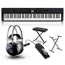 Casio Privia PX-350 Digital Piano with Stand, Sustain Pedal, Deluxe Keyboard Bench and Headphones