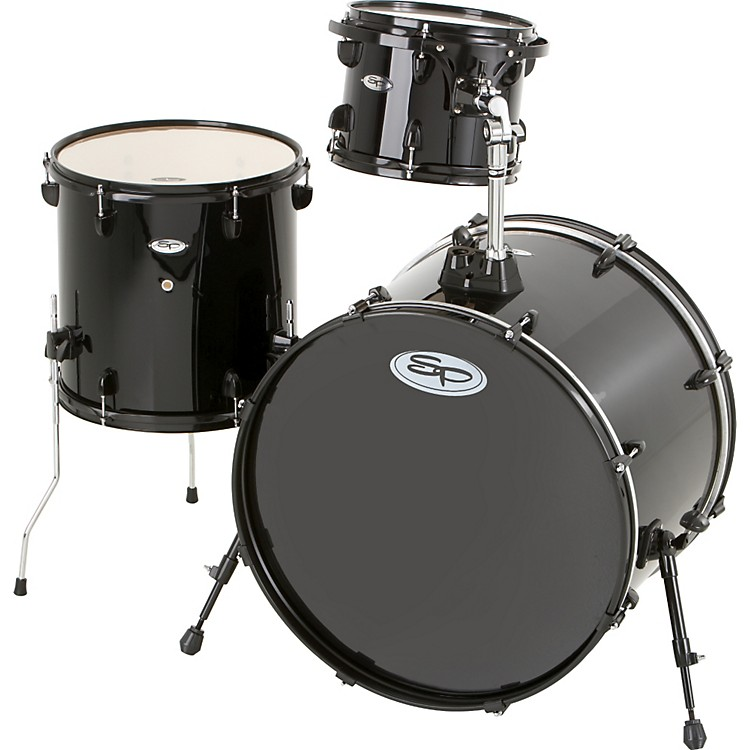 Sound Percussion Pro 3-Piece Double Bass Add-On Pack (Black Hoops and Lugs)