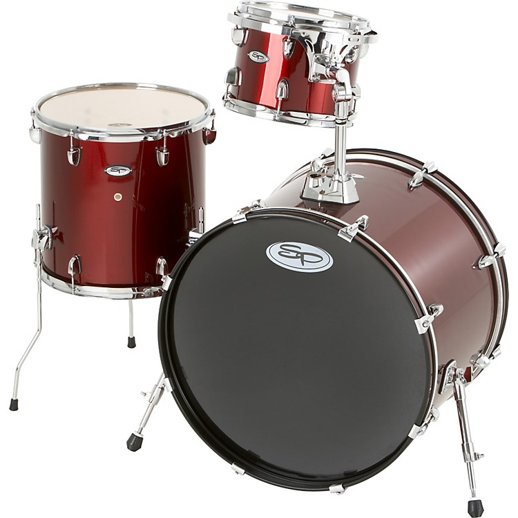 Sound PercussionPro 3-Piece Double Bass Add-On Pack (Chrome Hoops and Lugs)Wine Red