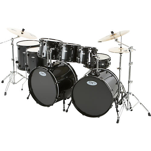 Sound Percussion Labs Pro 8-Piece Double-Bass Drum Set with Sabian XS20 Cymbals