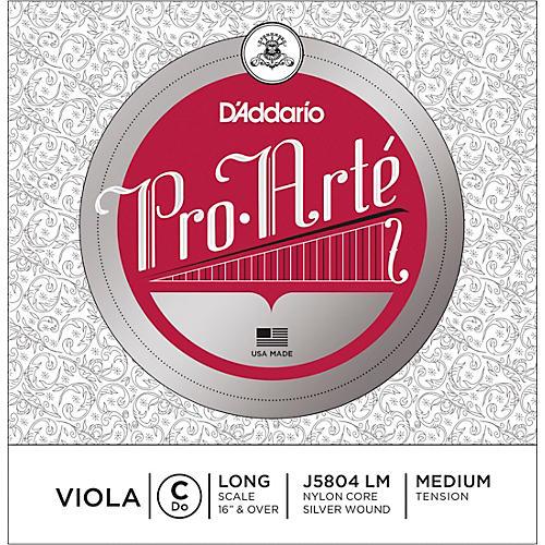 D'Addario Pro-Art Series Viola C String 16+ Long Scale Silver