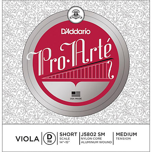 D'Addario Pro-Art Series Viola D String 13-14 Short Scale