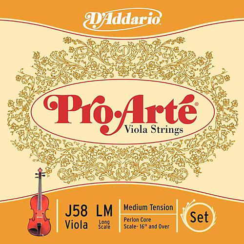 D'Addario Pro-Art Series Viola String Set 16+ Long Scale