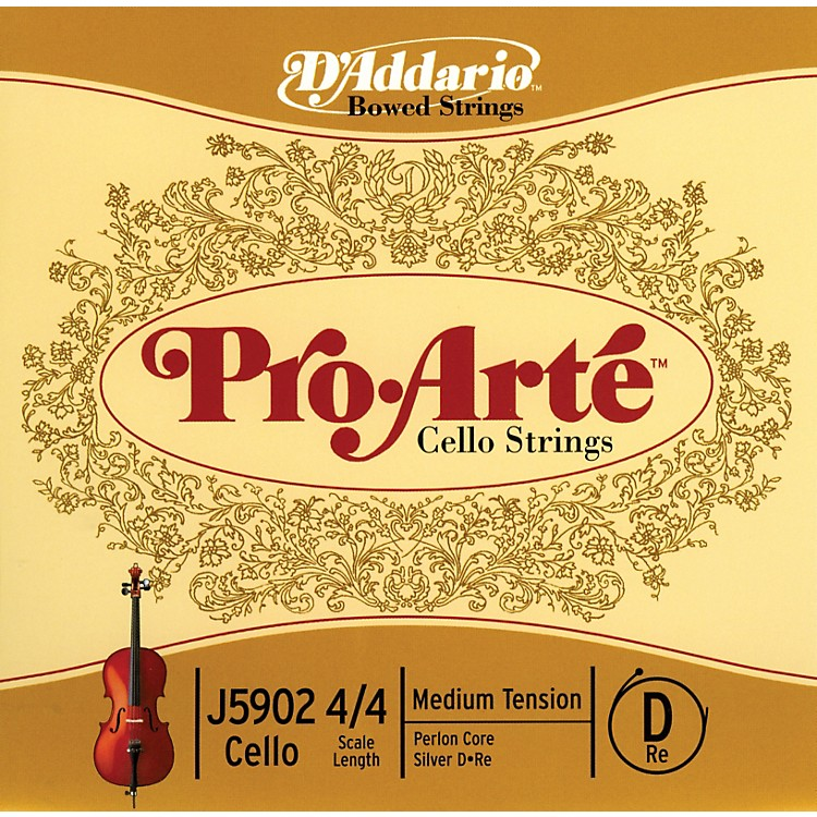 D'Addario Pro-Arte 4/4 Size Cello D String