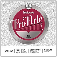 D'Addario Pro-Arte Series Cello G String 1/4 Size
