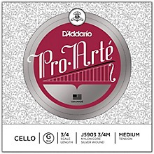 D'Addario Pro-Arte Series Cello G String 3/4 Size