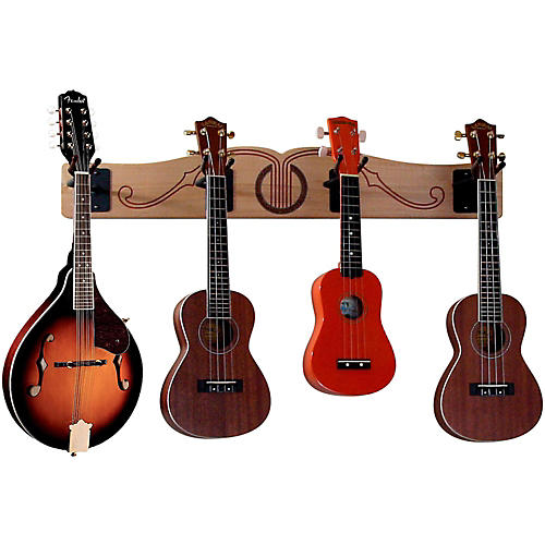 A&S Crafted Products Pro-File Wall Mounted Ukulele & Mandolin Rack-thumbnail