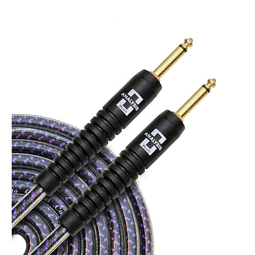 Analysis Plus Pro Oval Studio Instrument Cable with Overmold Gold Plug w/Straight-Straight Plugs 10 ft.