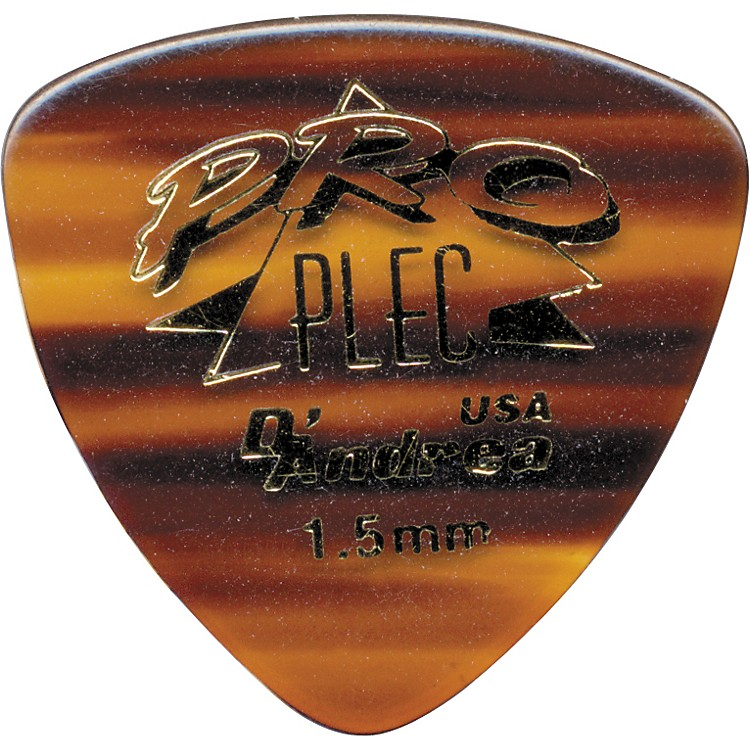 D'Andrea Pro Plec Rounded Triangle Picks One Dozen Shell 1.5MM