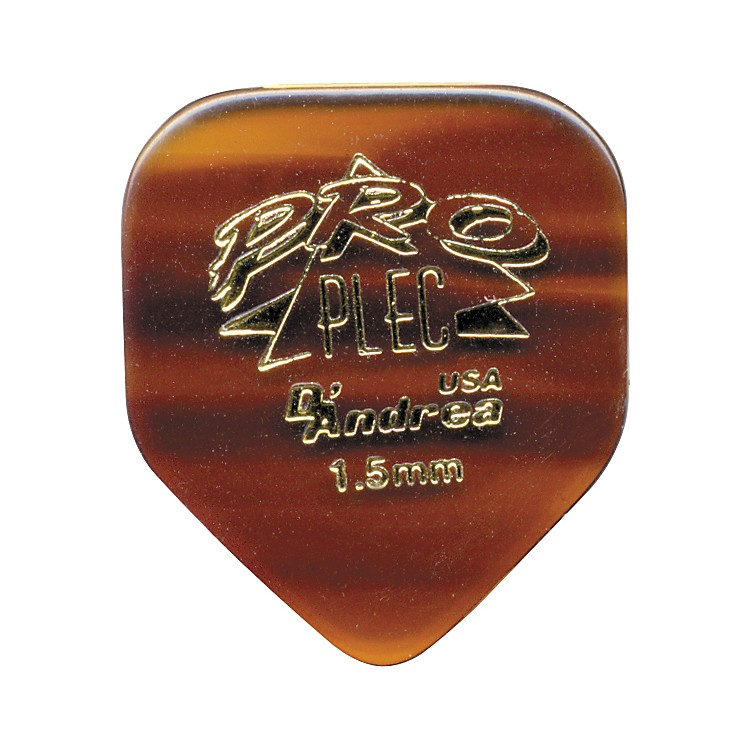 D'Andrea Pro Plec Small Pointed Square Guitar Picks One Dozen Shell 1.5MM