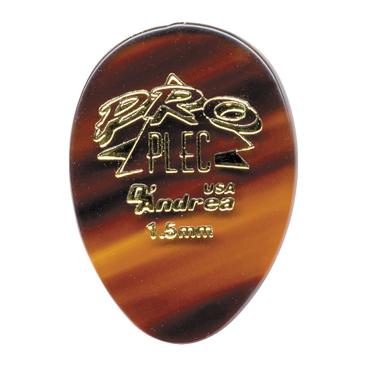 D'Andrea Pro Plec Small Round Teardrop Picks One Dozen Shell 1.50MM