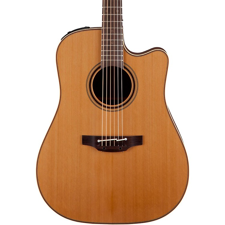 TakaminePro Series 3 Dreadnought Cutaway Acoustic-Electric GuitarNatural