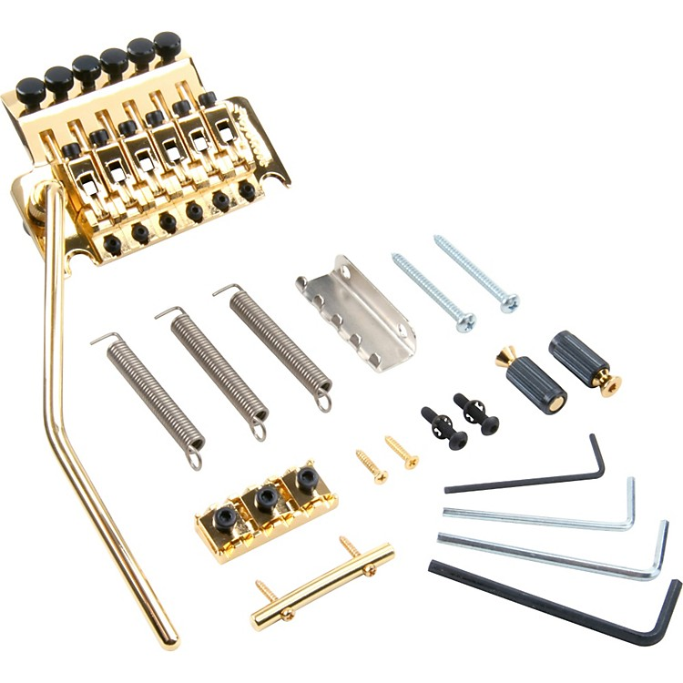 Floyd Rose Pro Series Tremolo Bridge with R2 Nut Gold
