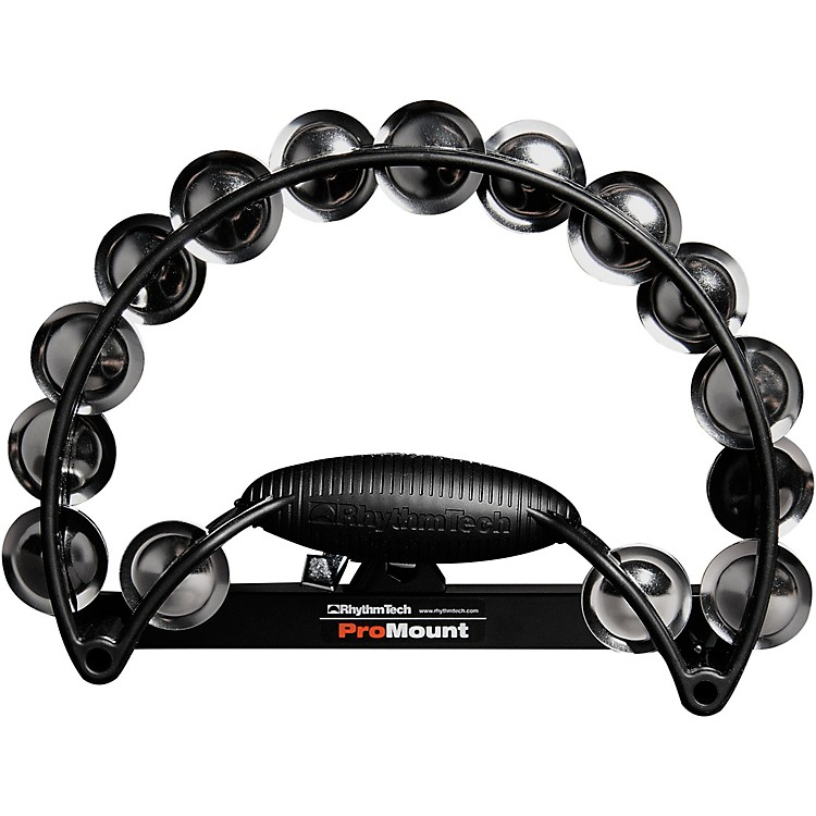 RhythmTech Pro Tambourine Black/Stainless Steel Jingles