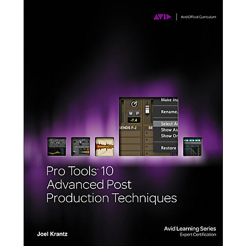 Cengage Learning Pro Tools 10 Advanced Post Production Techniques Book/DVD