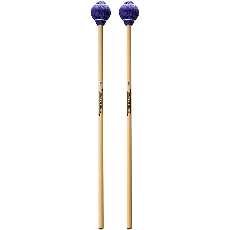Mike Balter Pro Vibe Series Rattan Mallets 23 Blue Cord Medium