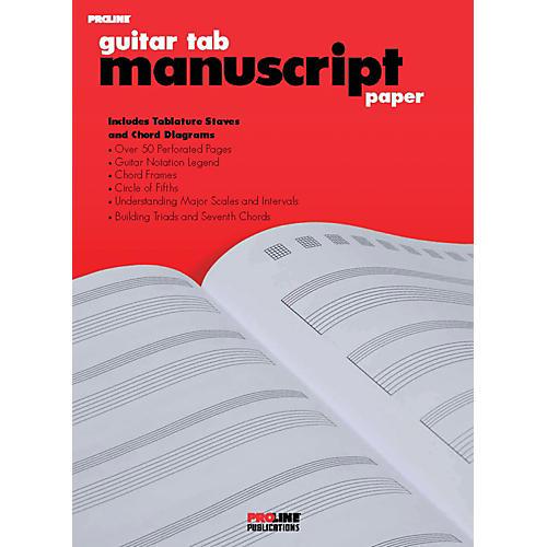 Hal Leonard ProLine Guitar Tab Manuscript Paper