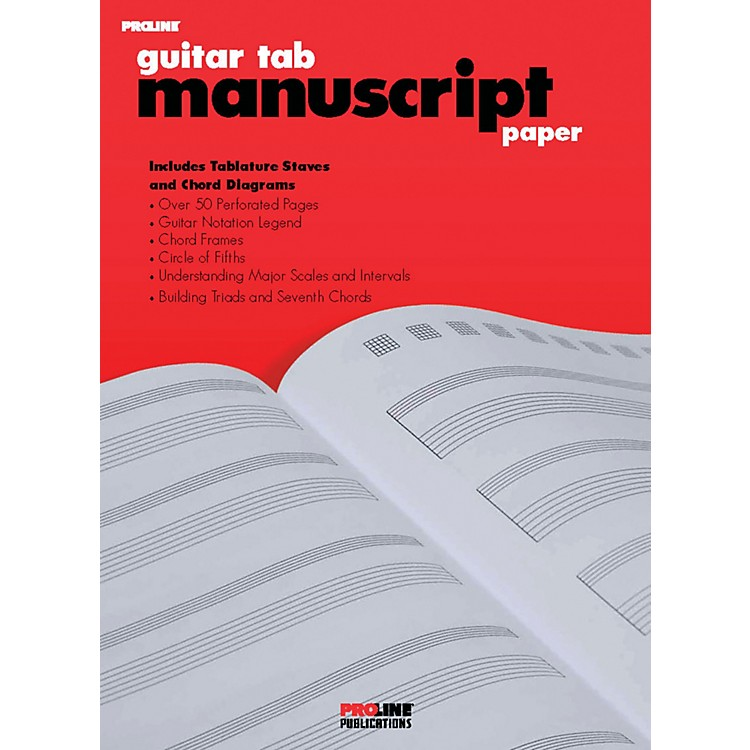 Hal LeonardProLine Guitar Tab Manuscript Paper