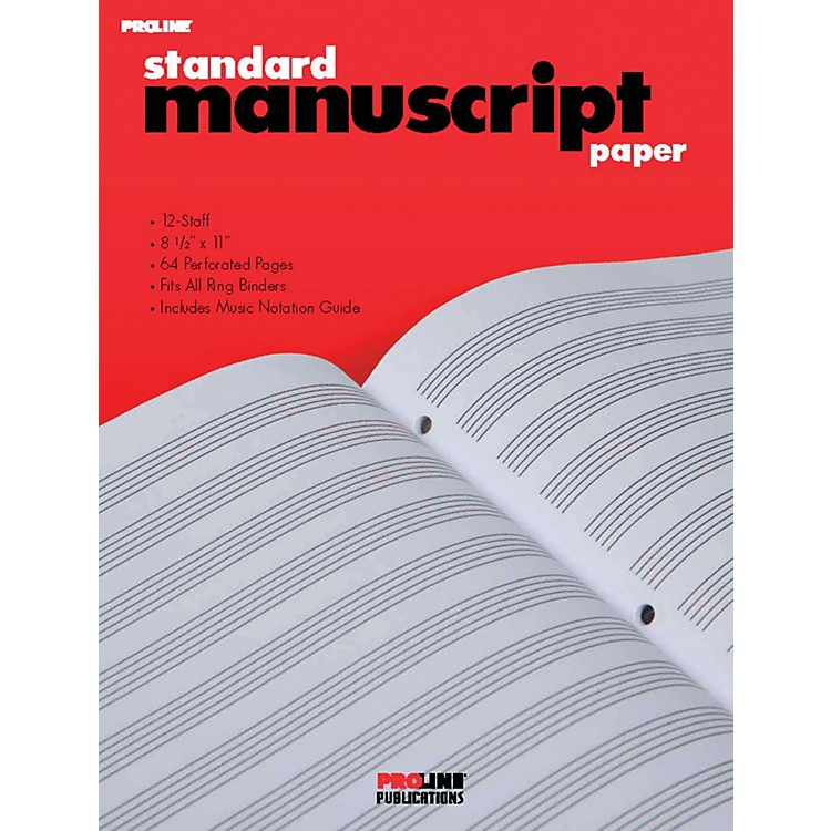 Hal LeonardProLine Standard Manuscript Paper