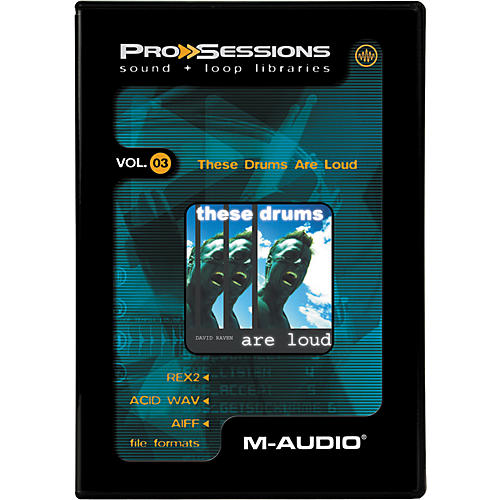 M-Audio ProSessions-Vol 3 These Drums Are Loud-thumbnail