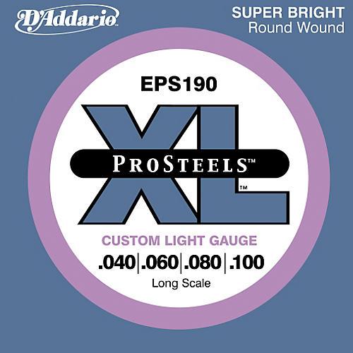 D'Addario ProSteels EPS190 Custom Light Long Scale Bass Strings-thumbnail
