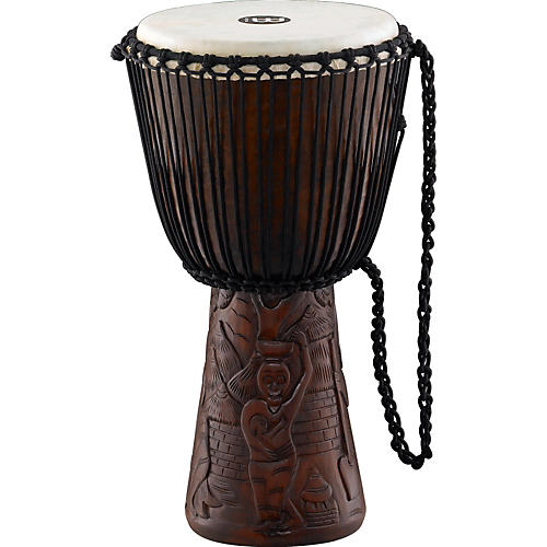 Meinl Professional African Djembe Large African Village Carving