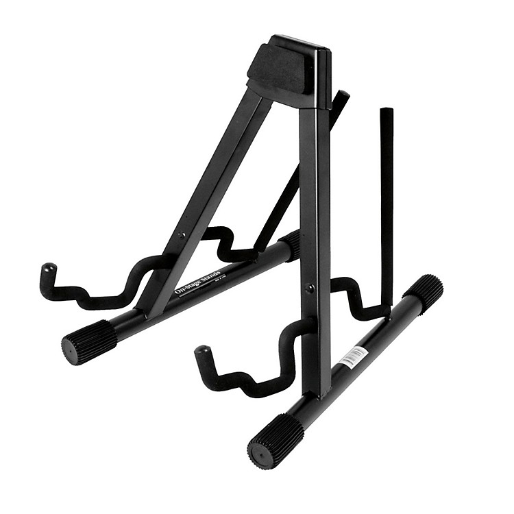 On-Stage Stands Professional Double A-Frame Guitar Stand Black
