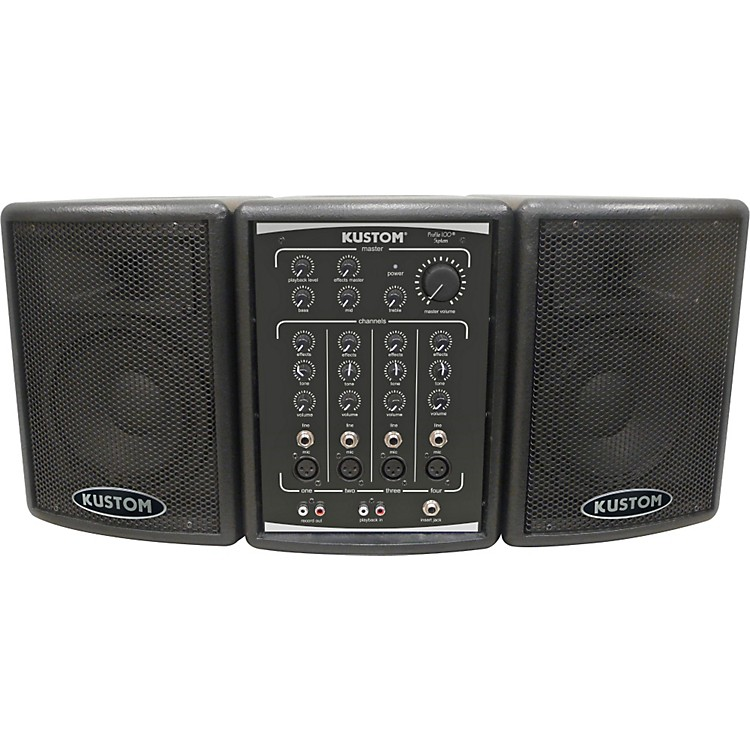 kustom pa profile 100 portable pa system musician 39 s friend. Black Bedroom Furniture Sets. Home Design Ideas