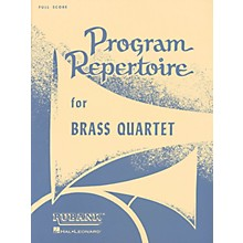 Rubank Publications Program Repertoire for Brass Quartet (Full Score) Ensemble Collection Series by Various