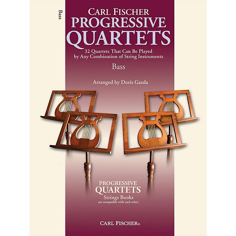 Carl FischerProgressive Quartets for Strings- Bass (Book)