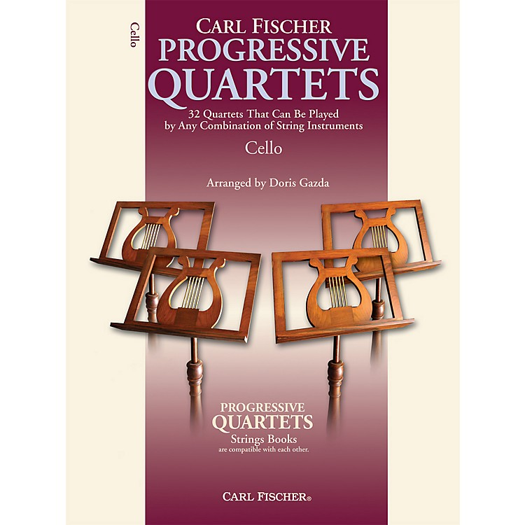 Carl Fischer Progressive Quartets for Strings- Cello (Book)