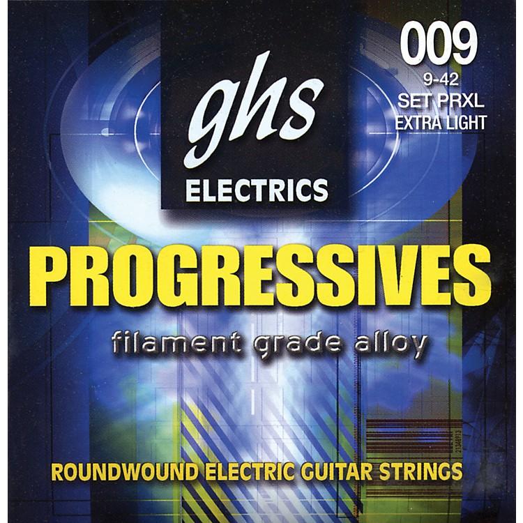 GHSProgressives Electric Guitar Strings Extra Light