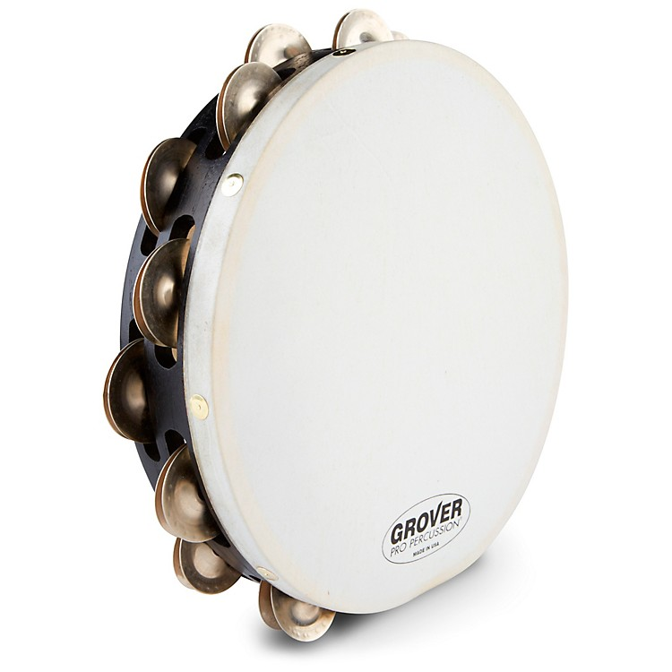 Grover Pro Projection-Plus Double-Row German Silver Tambourine 10 Inch 10 Inch