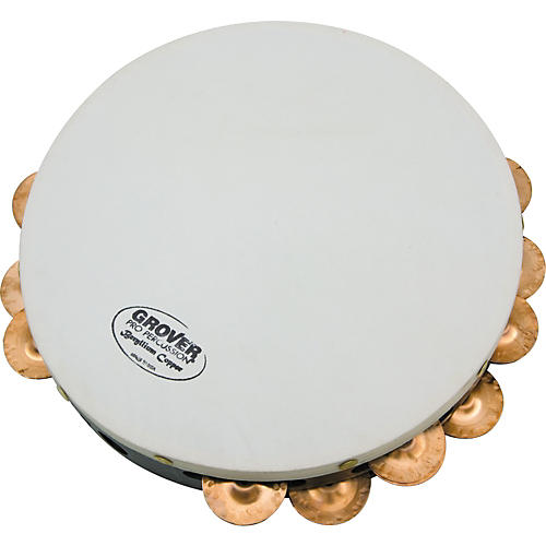 Grover Pro Projection-Plus Double Row Tambourines  Custom Dry Copper 10 inch
