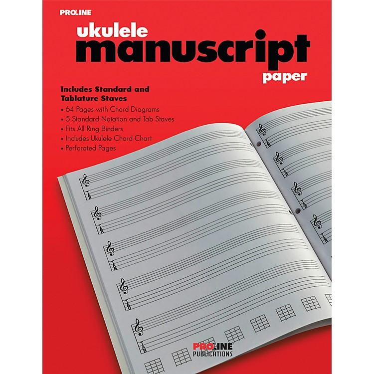 ProLineProline Ukulele Manuscript Paper Pad